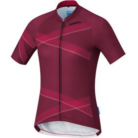 Shimano Team Jersey Fietsshirt korte mouwen Dames rood